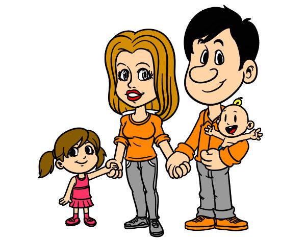 Feliz Personas Exitosas En Caricaturas: Dibujos Net De La Familia