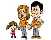 Dibujo Familia feliz pintado por Titiolmos