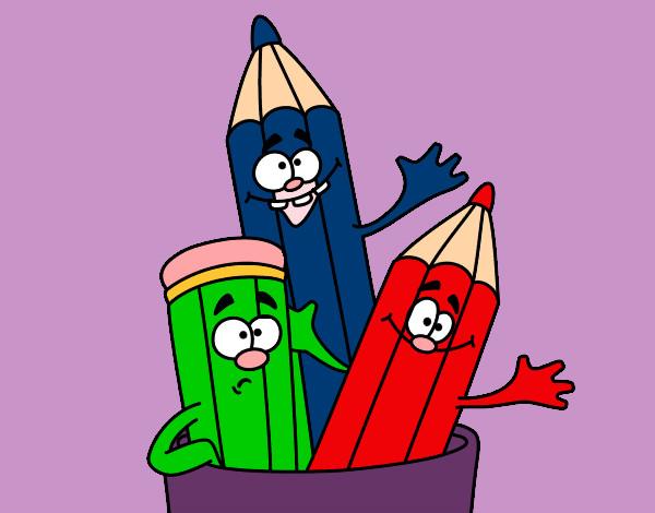 dibujo de lapices de colores pintado por lamorales en On colores dibujos infantiles
