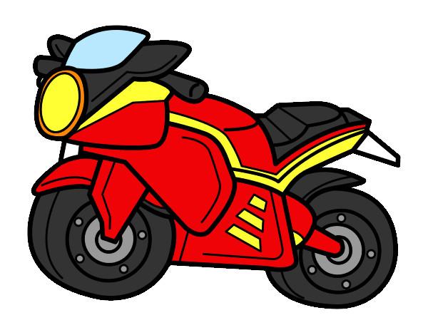 Dibujo de Moto deportiva pintado por Javier10 en Dibujosnet el