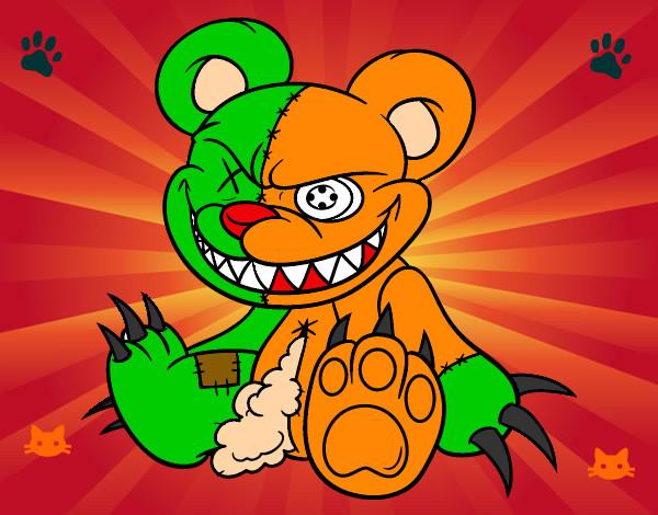 Dibujo de oso carioso pintado por Jitjat123 en Dibujosnet el da