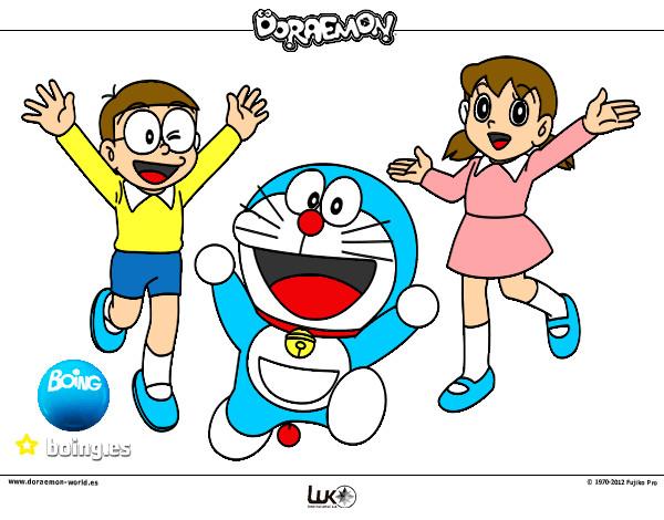 Dibujo de doraemon y sus amigos pintado por Lordjedi10 en ...