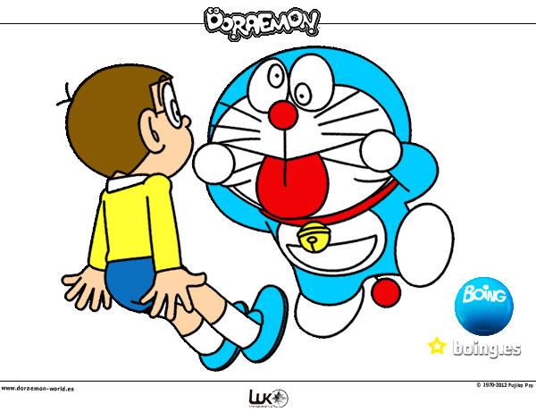 Dibujo de doraemon y nobita pintado por Lordjedi10 en Dibujosnet