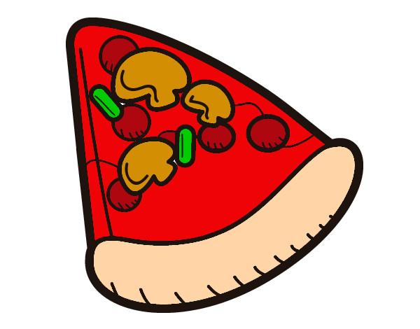 Dibujo de Pizza pintado por Princesa84 en Dibujosnet el da 1005