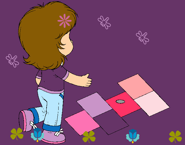 Rayuela Dibujo Para Colorear E Imprimir: Dibujo De Rayuela Pintado Por Pepitayo5 En Dibujos.net El