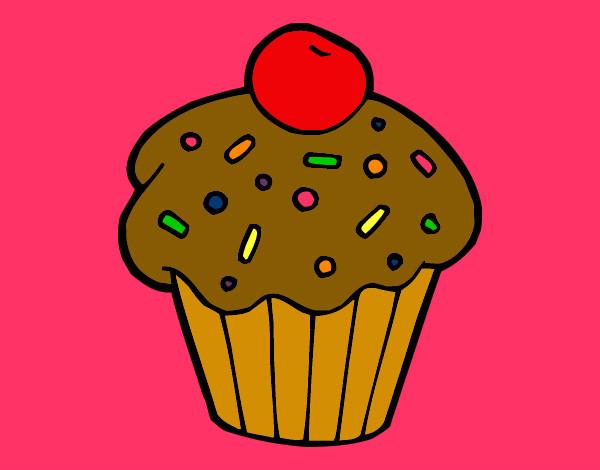 Cup Cakes En Dibujo