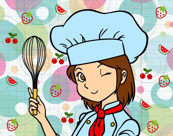 Dibujo de a cocinar pintado por palomya en for Cocinar en 5 min