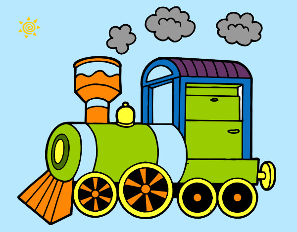 Image gallery locomotora dibujo for Dibujos infantiles pintados