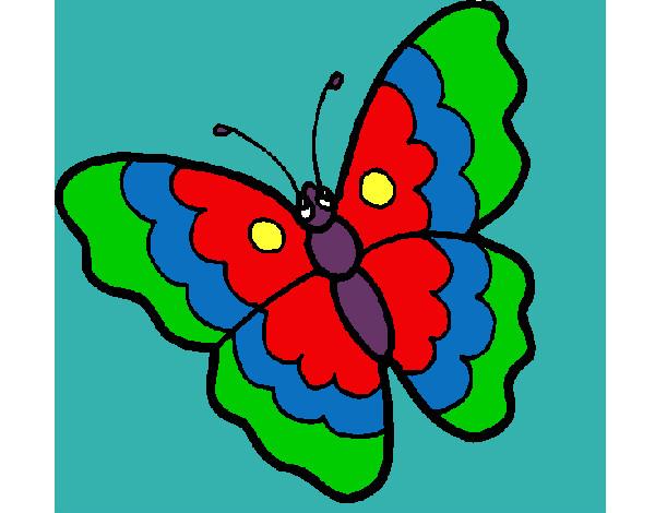 Dibujo de mariposa de tres colores pintado por Migl en Dibujos.net ...