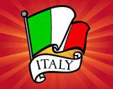 Dibujo Bandera de Italia pintado por Manuelon