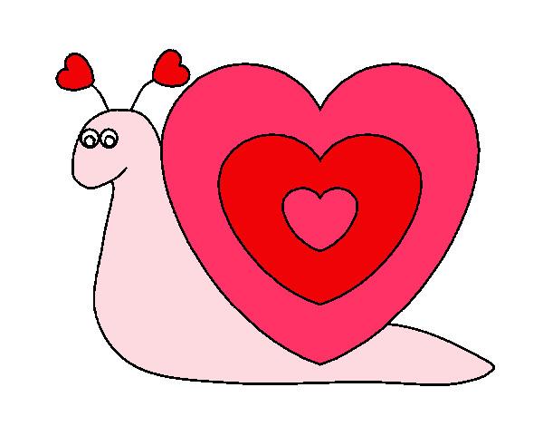 Dibujo de caracol pintado por lauralopez en el - Imagenes de corazones navidenos ...