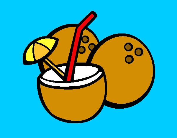 Dibujo de Cóctel de coco pintado por Amunyan en Dibujos ...