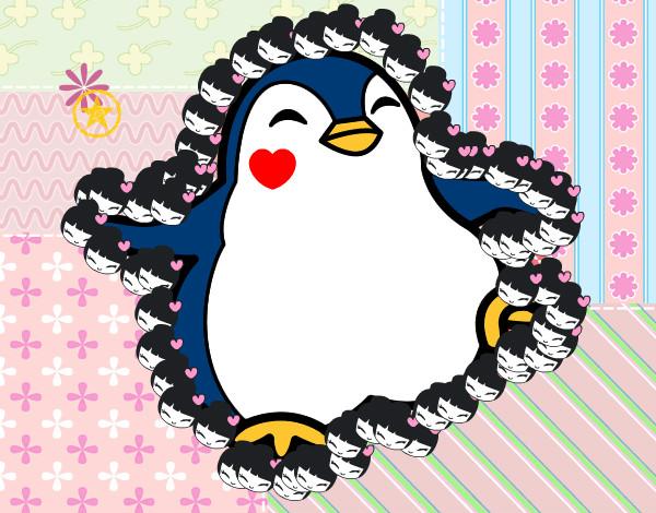 Dibujos De Animales Adorables Para Colorear: Dibujo De Pingüino Adorable Pintado Por Danicg En Dibujos