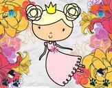 Dibujo Princesa volando pintado por fati07