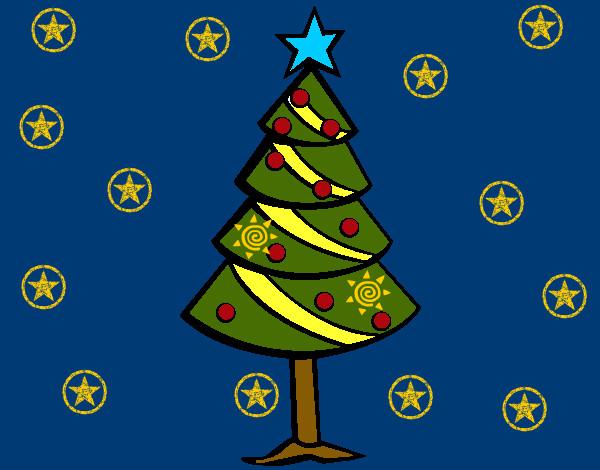 Dibujos Pintados De Navidad. Dibujo De Una Corona De ...
