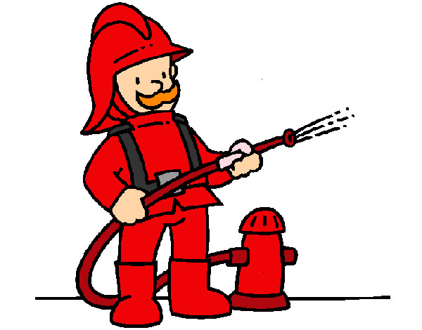 Worksheet. Dibujo de BOMBERO pintado por Erikat en Dibujosnet el da 0806