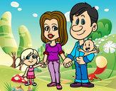 Dibujo Familia feliz pintado por taniluis