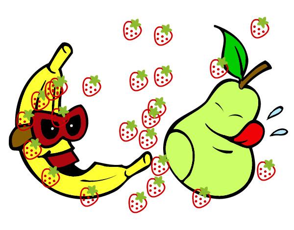 Dibujo de Frutas locas pintado por Estebin en Dibujos.net el día ...