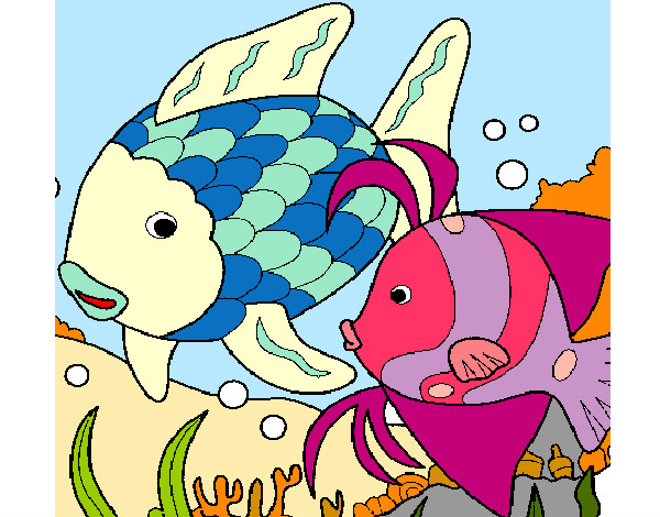 Dibujo de Peces de colores pintado por Michelle26 en Dibujosnet