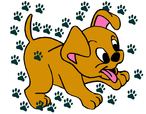 Dibujo de perritolindo pintado por Risitapop en Dibujosnet el da
