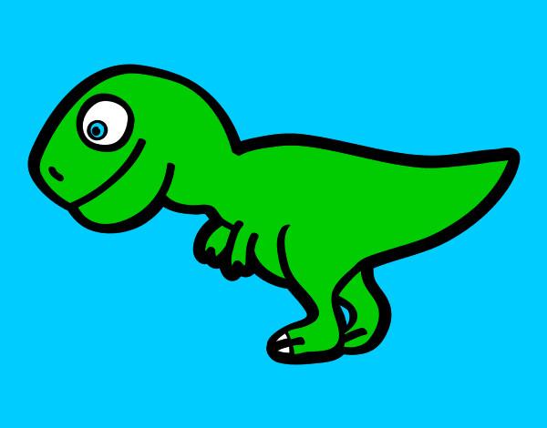 dibujo de tiranosaurio rex joven pintado por lucas2000 en dibujos