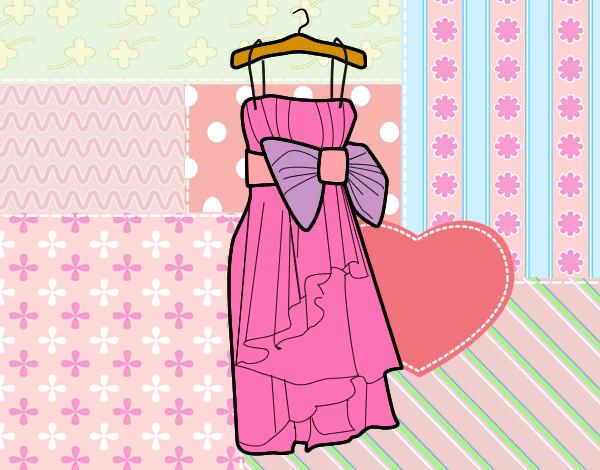 Dibujo de Vestido de fiesta pintado por Cari en Dibujos.net el día ...