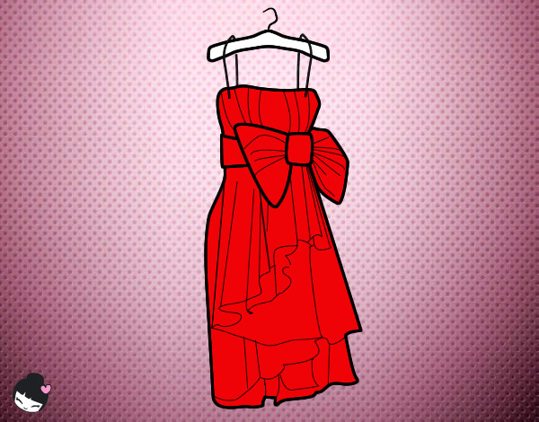 Dibujo de Vestido rojo pintado por Cotufita-3 en Dibujos.net el ...