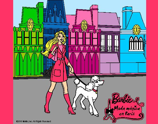 Dibujo de Barbie Moda Magica en Paris pintado por Daniela19 en
