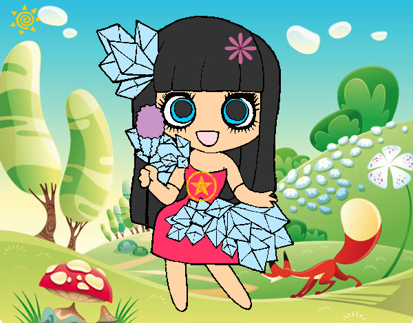 Dibujo De Niña Anime En El Bosque Pintado Por Jennifer8
