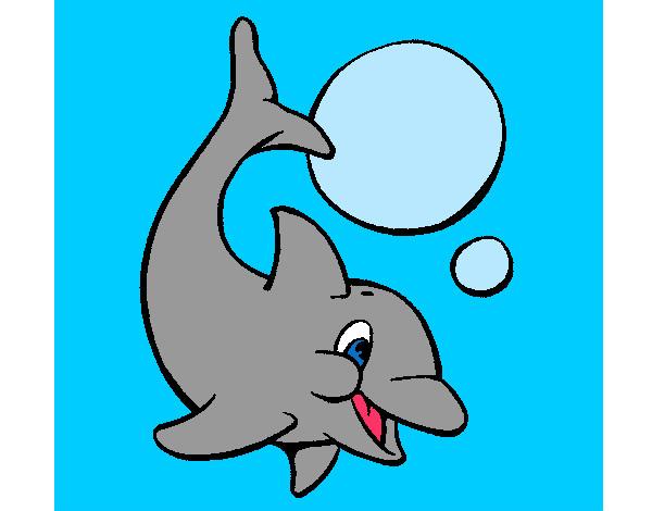 Dibujos Infantiles De Delfines A Color: Dibujo De Delfin Pintado Por Albita9999 En Dibujos.net El