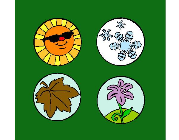 Dibujos De Las 4 Estaciones Para Colorear: Dibujo De 4 Estaciones Pintado Por Sarahi04 En Dibujos.net
