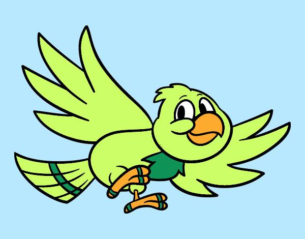 Dibujo de Pjaro volando pintado por Loac en Dibujosnet el da 21