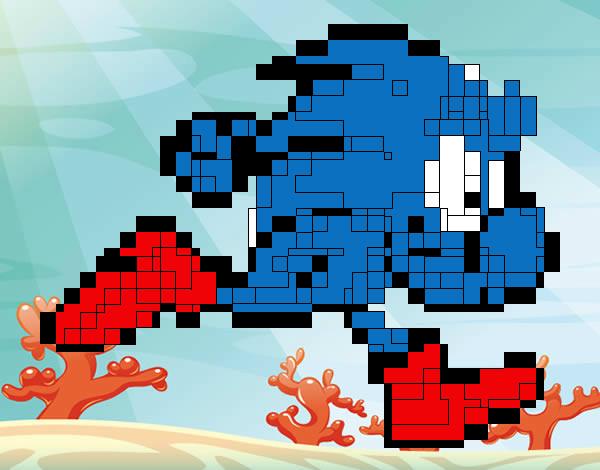 Piccolo Para Colorear: Dibujo De Sonic Cuadrado Pintado Por Piccolo En Dibujos