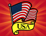 Dibujo Bandera de los Estados Unidos pintado por fiorchu