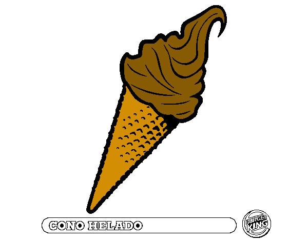 Dibujo de el helado de chocolate pintado por Julietta23 en Dibujos