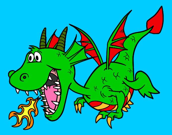 Dibujo de Dragoncito pintado por Leonwin en Dibujosnet el da 26