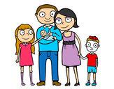 Dibujo Familia unida pintado por valemanu