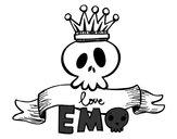 Dibujo Love Emo pintado por LATURRA