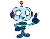 Dibujo Robot simpático pintado por baltazar