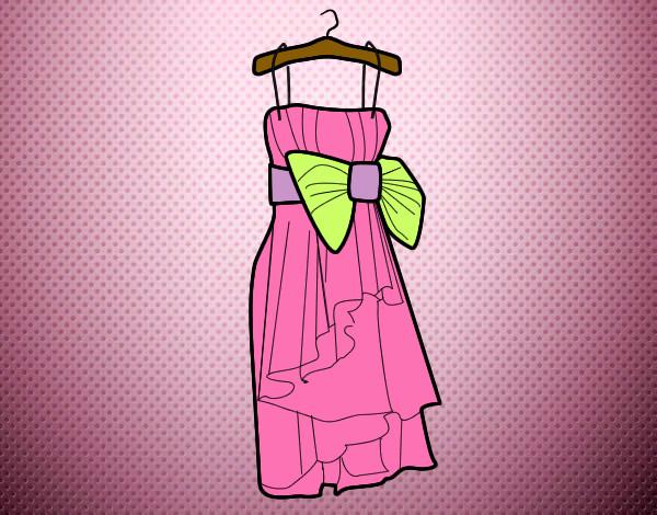 Dibujo de vestido de fiesta para cualquier ocasion pintado por ...