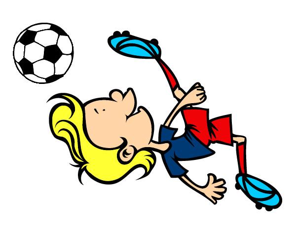 Dibujo De Chilena Para Colorear: Dibujo De Futbol De Chilena Pintado Por Michaelg En