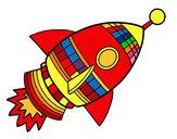 Dibujo Cohete espacial pintado por edwardjose