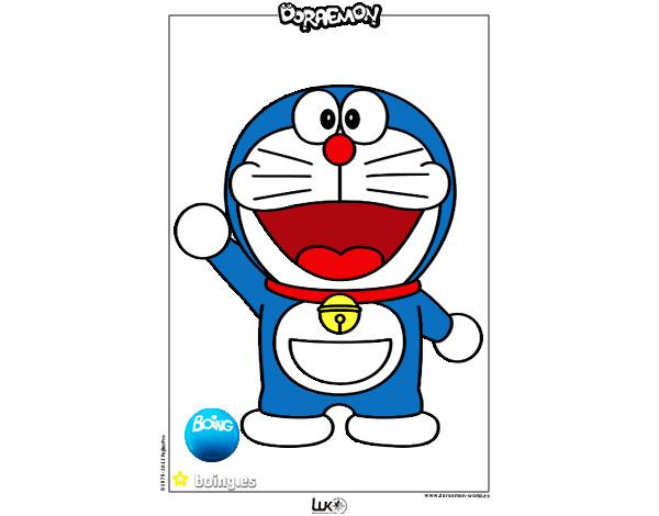 Dibujos Para Colorear E Imprimir De Doraemon: Dibujo De Doraemon Pintado Por Nuria2000 En Dibujos.net El