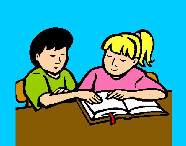 Dibujos Animados De Animales Estudiando: Dibujo De Estudiando Pintado Por Sergio2 En Dibujos.net El
