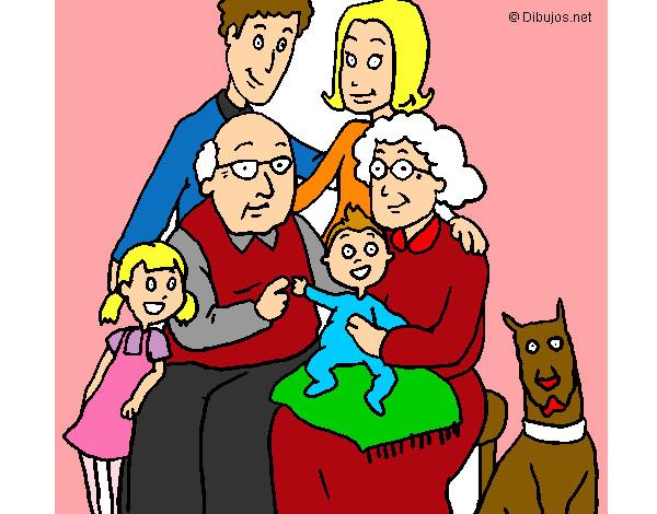 Dibujo de Una hermosa familia unida - 113.2KB