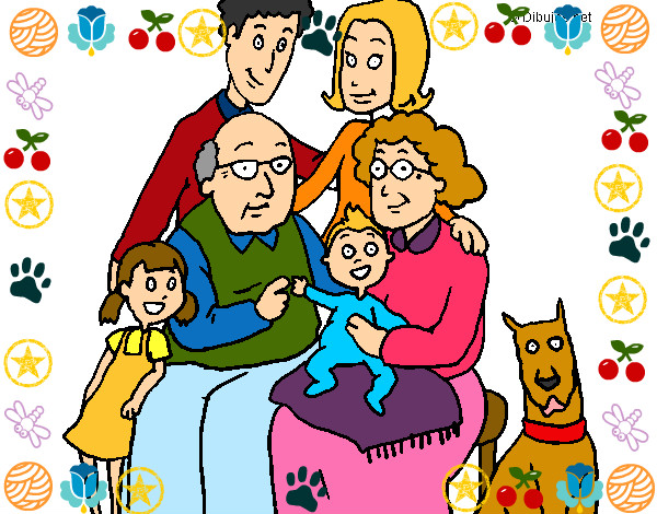 Dibujo de Familia pintado por Triix en Dibujosnet el da 070712