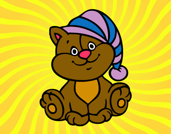 Dibujos De Animales Adorables Para Colorear: Dibujo De ''Gatito Adorable'' Pintado Por Tulokitta_ En