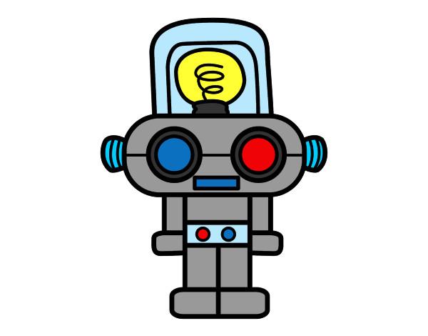 Dibujo de Robot con luz pintado por Chase en Dibujos.net el día 08 ...