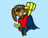 Dibujo Super-perro pintado por kjuli