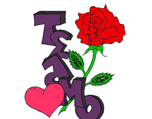 Dibujo de rosa pintado por Vero2002 en Dibujosnet el da 050712